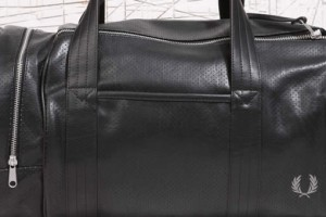 Fred Perry Black Perforated Barrel Bag